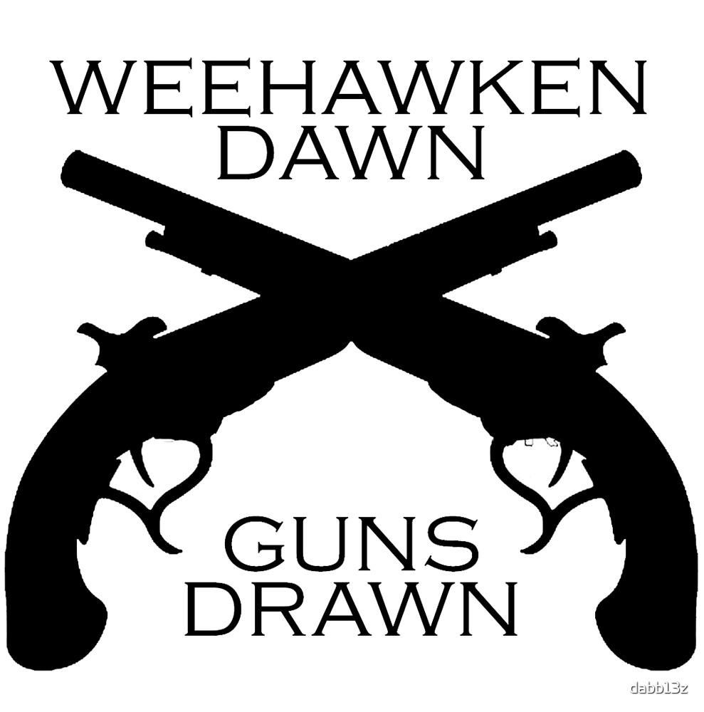 Hamilton - Weehawken. Dawn. Guns drawn. by dabb13z