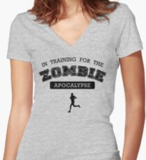 Training for the zombie apocalypse Women's Fitted V-Neck T-Shirt