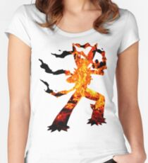 Mega Blaziken used Blast Burn Women's Fitted Scoop T-Shirt