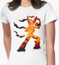 Mega Blaziken used Blast Burn Women's Fitted T-Shirt
