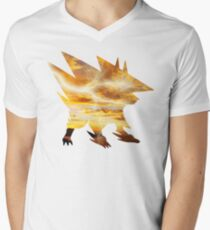 Mega Manectric Thunder Wave Mens V-Neck T-Shirt