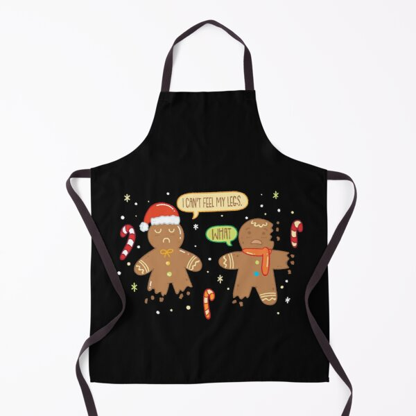 Funny Gingerbread Man - Cute Christmas Cookie Gingerbread Apron