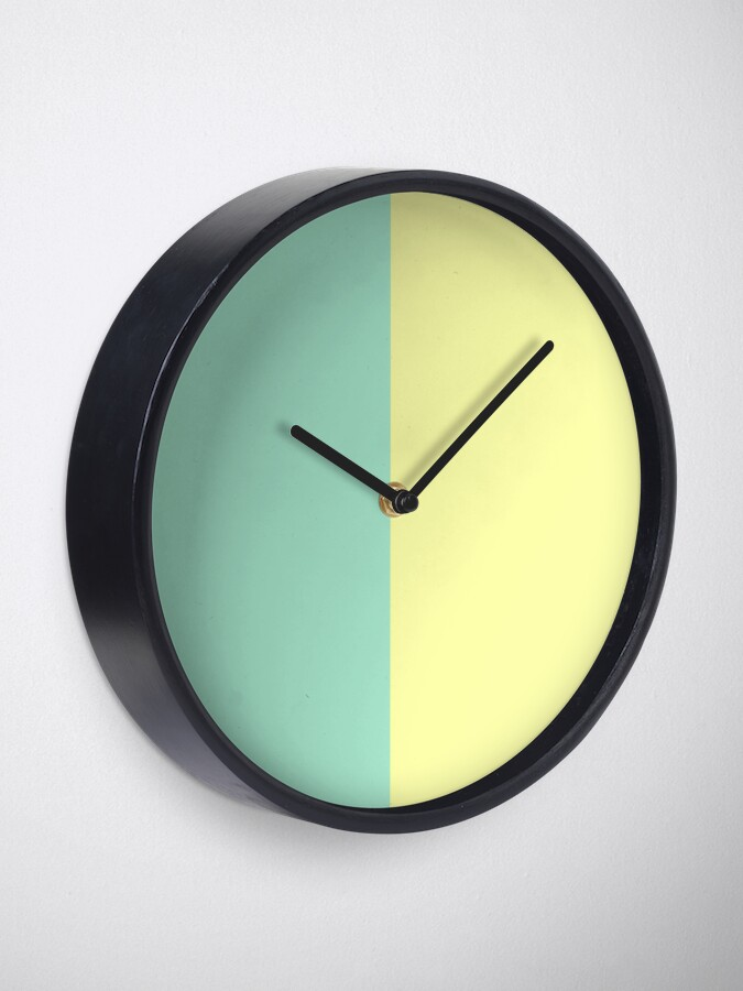 Alternate view of Pastel Green and Yellow Split Clock