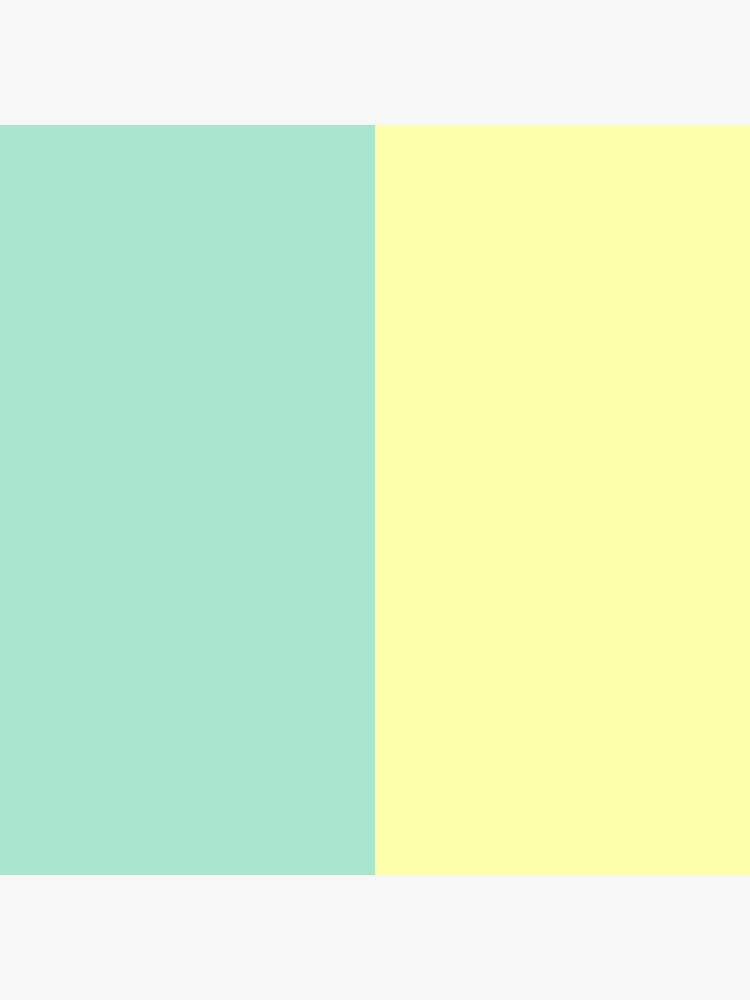 Pastel Green and Yellow Split by QuirkyClock
