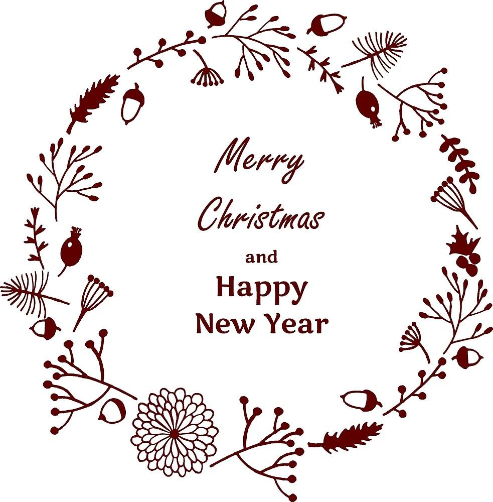 Merry Christmas and Happy New Year by Anzhela Klochana