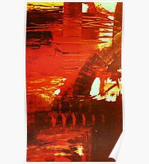 crucible - sunset river tyne Poster