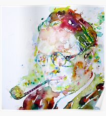 RAYMOND CHANDLER - watercolor portrait Poster