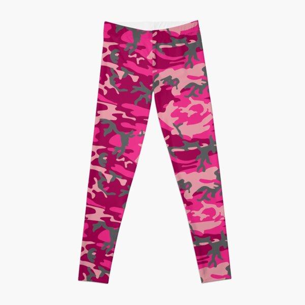 Pink Camouflage Pattern Leggings