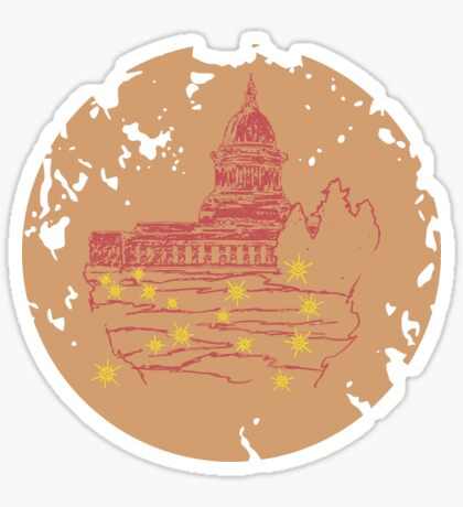 Capitol At Dusk in Sand Sticker