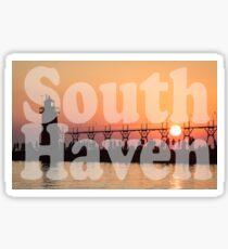 South Haven, Michigan Sunset Gathering Sticker