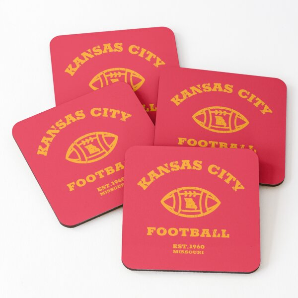 Kansas City 2020 | Vintage KC Football Missouri Retro Gift T-Shirt Coasters (Set of 4)