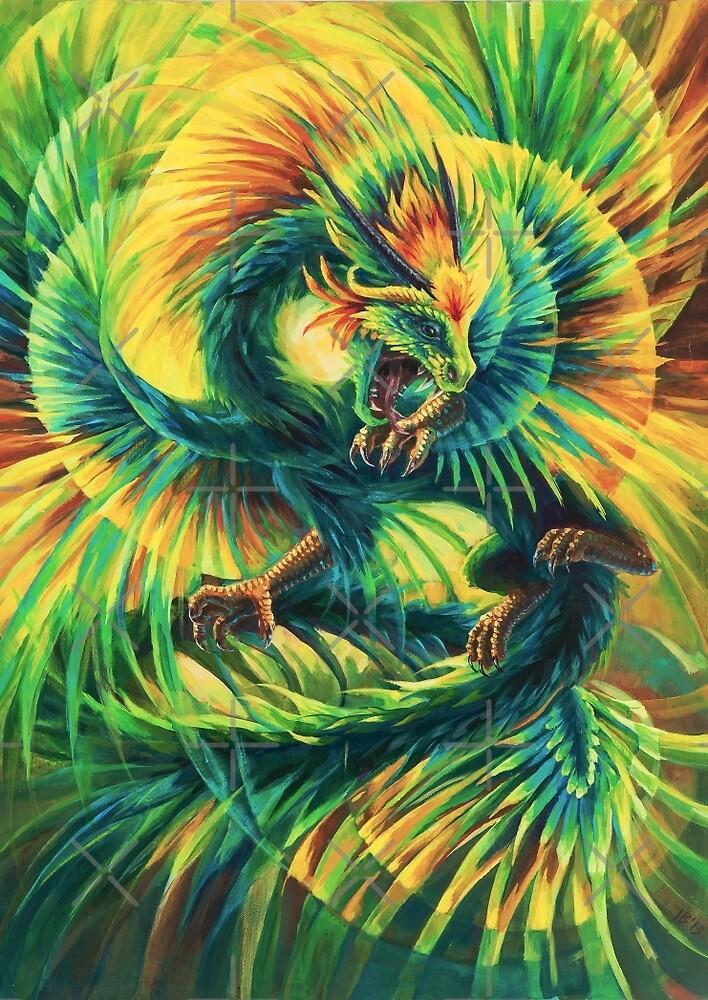 Quetzalcoatl, the plumed serpent by Hannah Böving