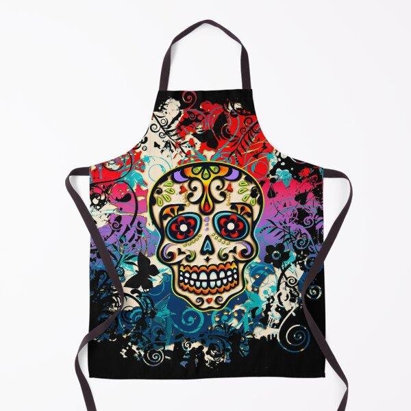 Mexican Skull, Sugar Skull, Day of the Dead, Dias de los muertos Apron