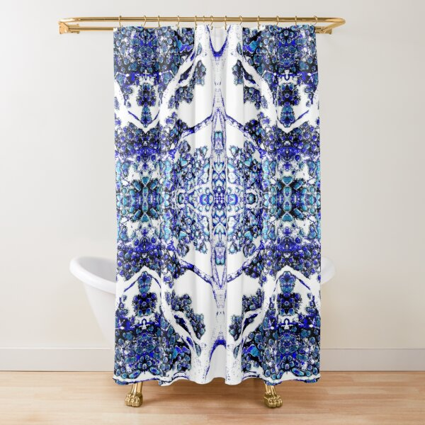 Vintage Blue Tree Shower Curtain