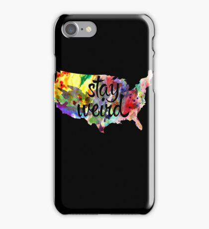 Stay Weird America iPhone Case/Skin
