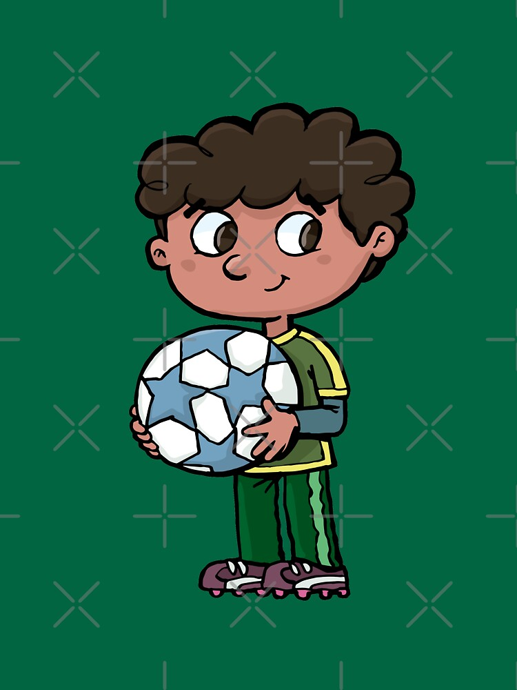 boy with a soccer ball by duxpavlic
