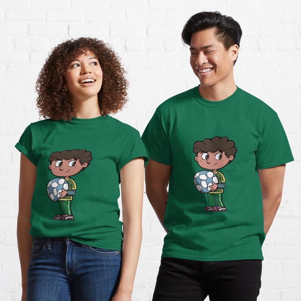 boy with a soccer ball Classic T-Shirt