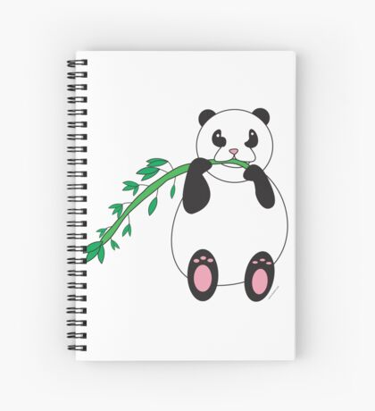 Panda Eating Bamboo Spiral Notebook
