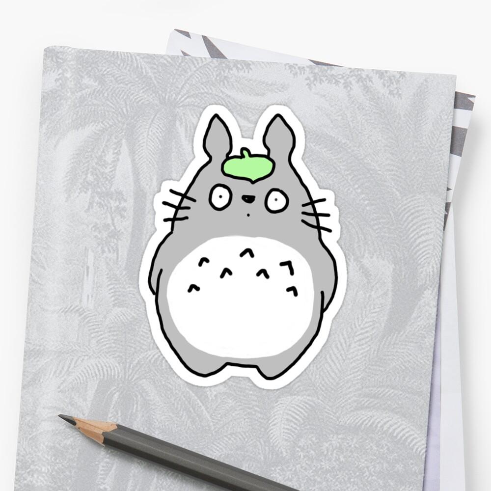 Cute Totoro by PaintedFrogs