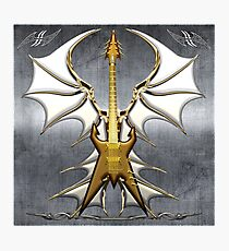 Dark Angel Heavy Guitar Photographic Print
