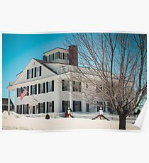 A Model of a Historic New England Home Poster