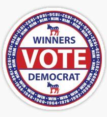 Winners Vote Democrat Sticker