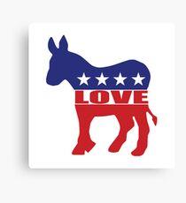 Love Democrats Canvas Print