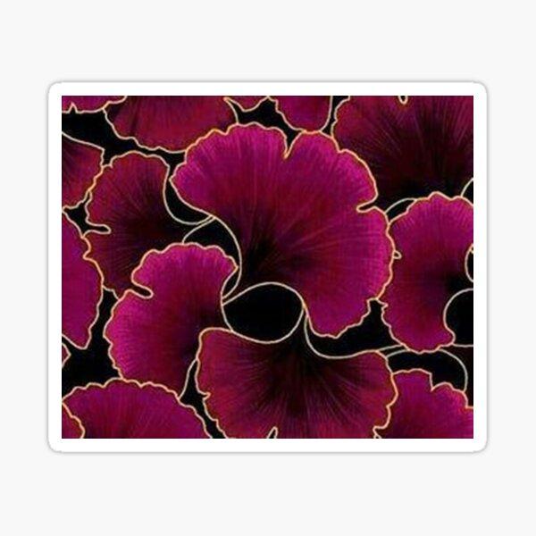 Magenta Ginko Floras Sticker