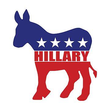 Vote Hillary Democrat by Democrat