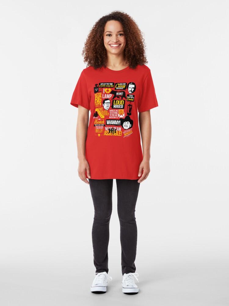 Vista alternativa de Camiseta ajustada Citas con clase