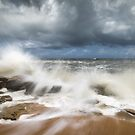 St. Augustine FL Beach Seascape Crashing Waves by Dave Allen