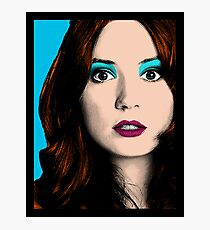 Amy Pond Pop Art (Doctor Who) Photographic Print
