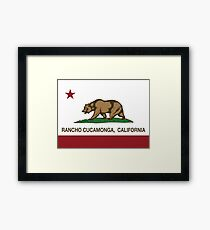 Rancho Cucamonga California Republic Flag  Framed Print