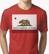 Rancho Cucamonga California Republic Flag  Tri-blend T-Shirt