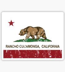 Rancho Cucamonga California Republic Flag  Sticker