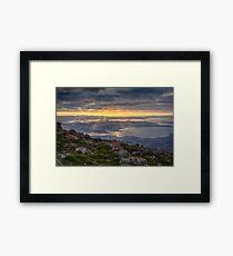 Sunbeams over Hobart, Tasmania Framed Print