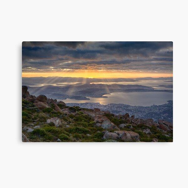 Sunbeams over Hobart, Tasmania Canvas Print