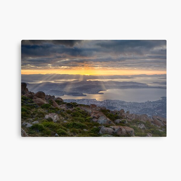 Sunbeams over Hobart, Tasmania Metal Print