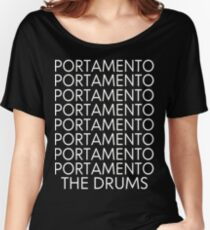 The Drums//Portamento ((Black)) Women's Relaxed Fit T-Shirt