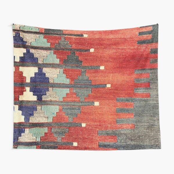 Vintage Turkish Decorative Kilim, Navaho Weave, Woven Aztec Textile  Tapestry