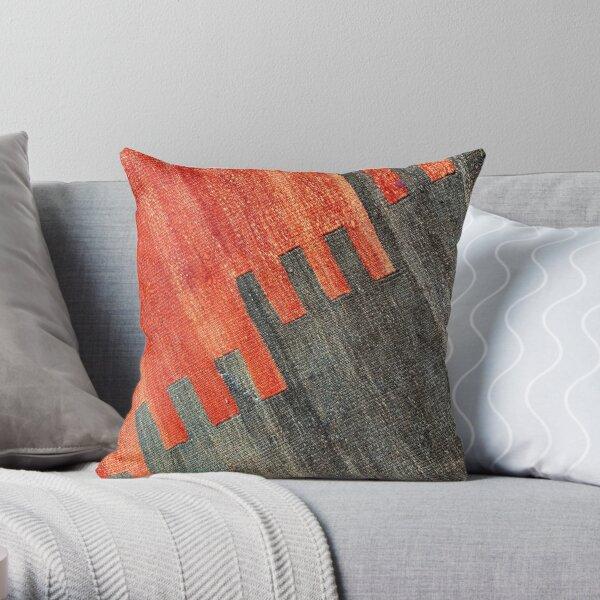 Vintage Decorative Kilim, Navaho Weave, Woven Aztec Textile  Throw Pillow