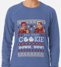Put That Cookie Down, Now! Ugly Sweater Design Lightweight Sweatshirt
