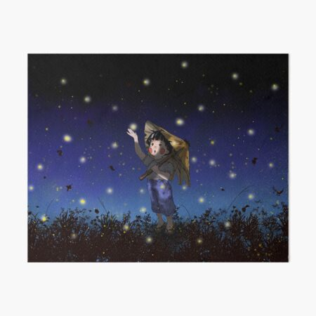 setsuko's fireflies Art Board Print