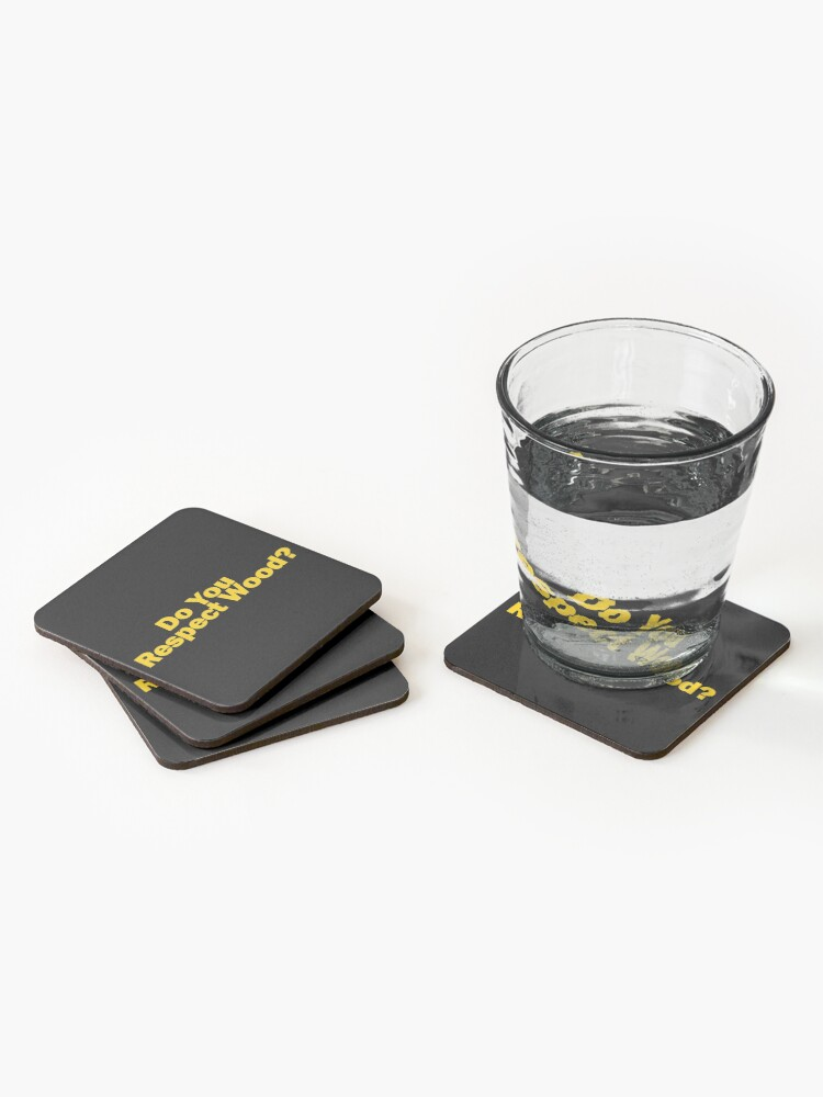 Alternate view of Do You Respect Wood Coasters (Set of 4)