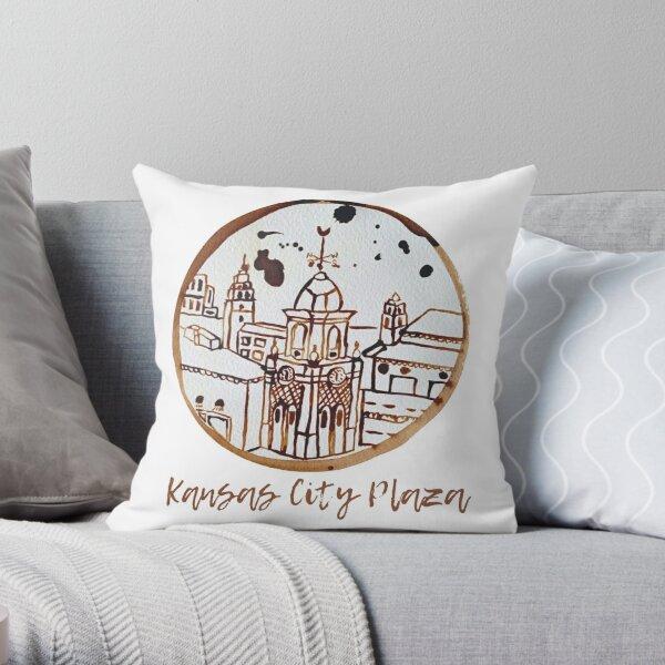 Kansas City Plaza CoffeeART Logo Throw Pillow