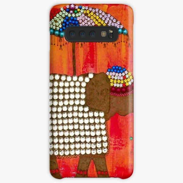 Elephant under brolly Samsung Galaxy Snap Case