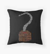 Captain Hook Once Upon A Time Typography Throw Pillow