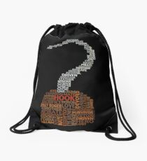 Captain Hook Once Upon A Time Typography Drawstring Bag