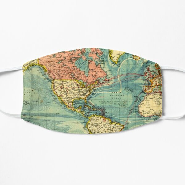World Map Featuring United States of America Mask