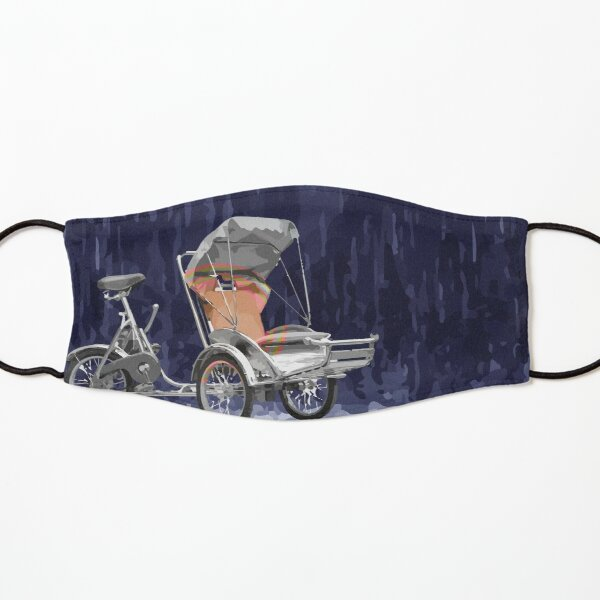 Cyclo in the Rain Vietnam Symbol Abstract Kids Mask